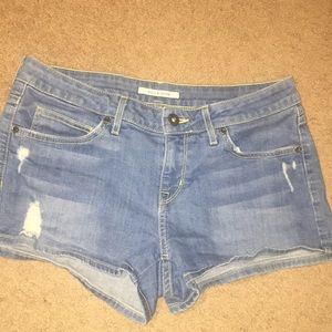 Rick & Skinny Denim Distressed Shorts 26